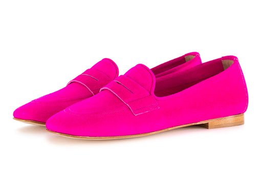 Nouvelle femme womens flat shoes suede pink