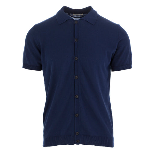 wool & co mens polo cotton blue