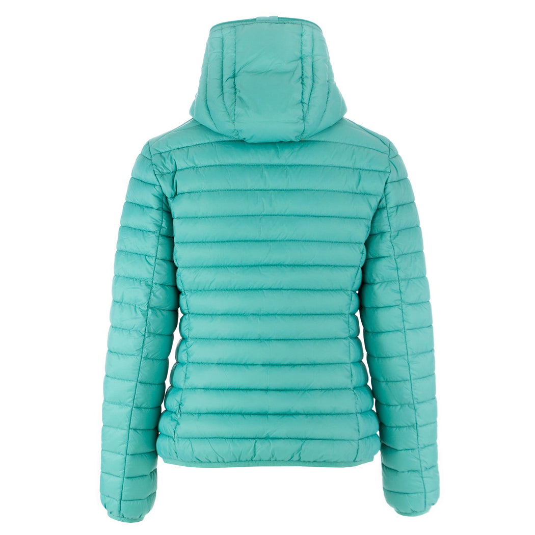 women's puffer jacket Giga12 aqua green