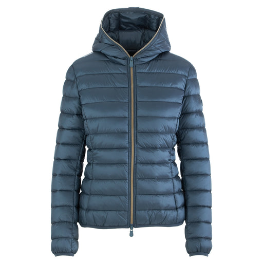 save the duck womens puffer jacket sky blue