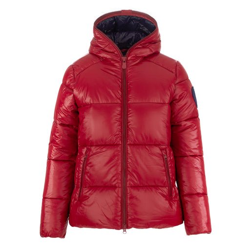 save the duck womens puffer jacket red