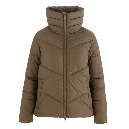 save the duck womens puffer jacket brown