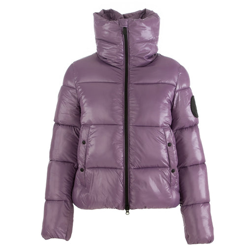 save the duck womens puffer jacket purple