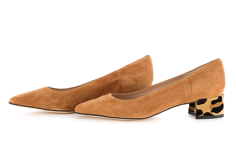 Il borgo firenze womens pumps suede brown