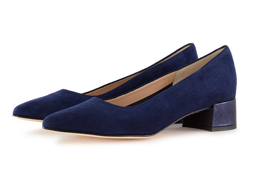 Il borgo firenze womens pumps suede blue