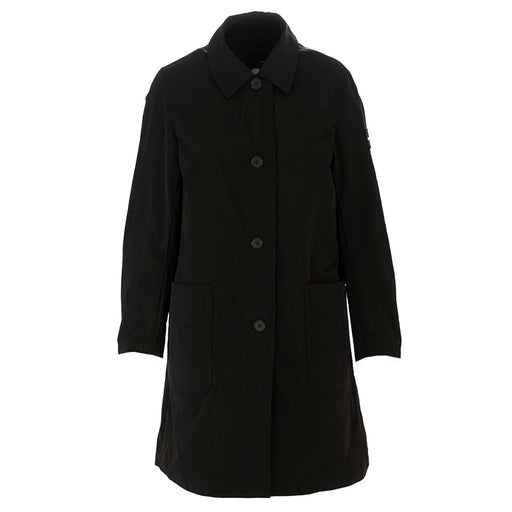 oof womens raincoat with shirt collar black