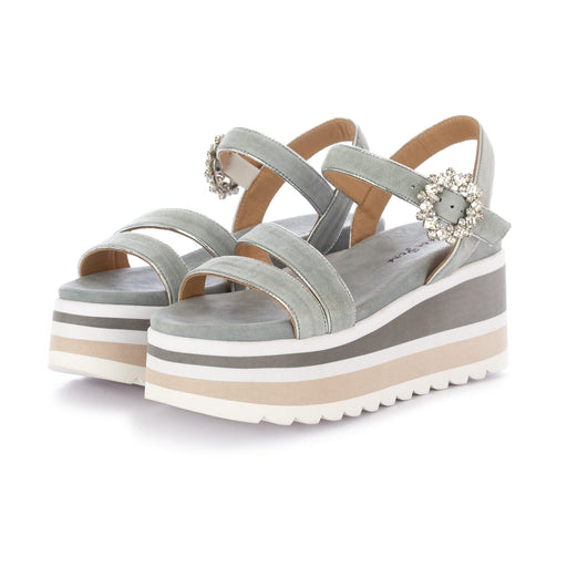 alma en pena womens wedge sandals light blue
