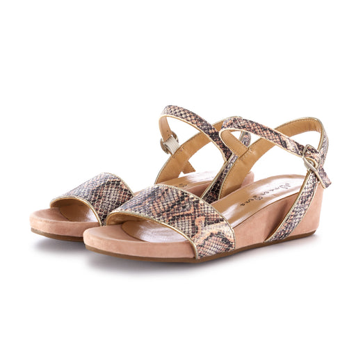 alma en pena womens sandals leather python pink
