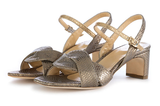 L'Arianna womens heel sandals grey leather