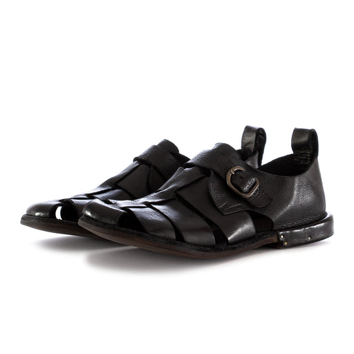manovia 52 mens sandals leather black