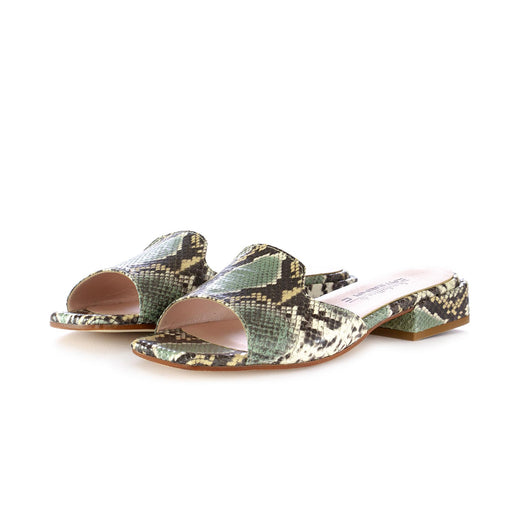 caterina c womens sandals sabot green