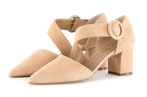Crispi pumps suede biscuit beige leather
