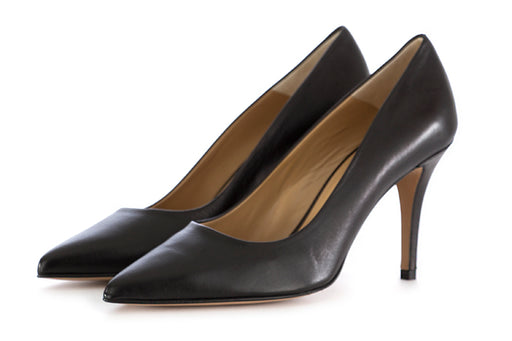 Crispi pumps in black nappa leather