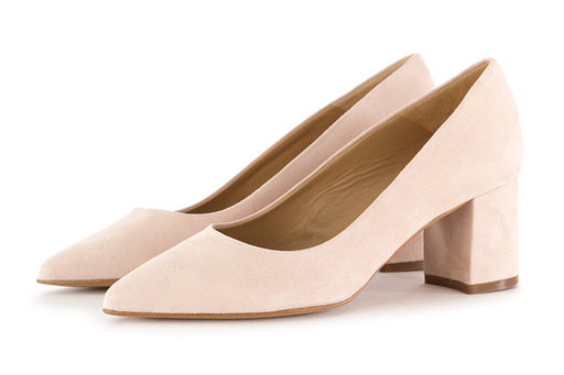 CRISPI womens powder beige suede leather Pumps
