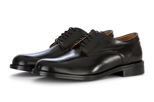 CARLI 1937 mens lace-up shoes glossy black leather