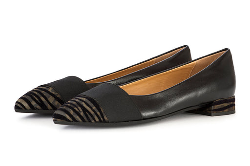 Il Borgo Firenze women's flat shoes black leather