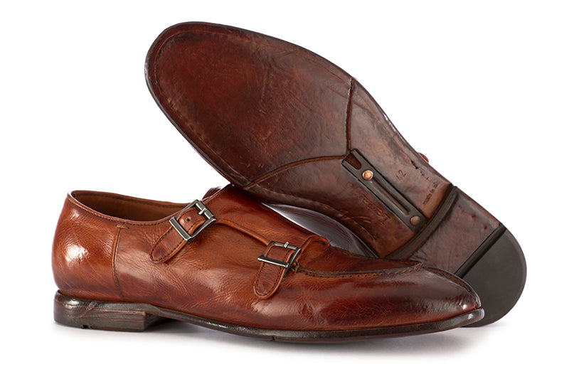 Lemargo men's flat cognac brown leather shoes