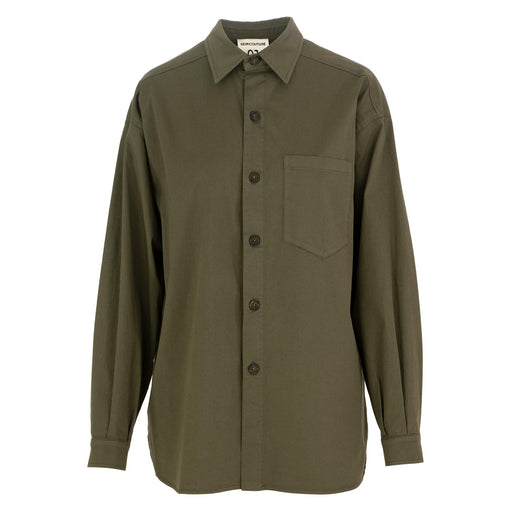 womens shirt military green semicouture