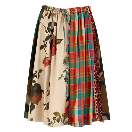 women's skirt semicouture camp patchwork