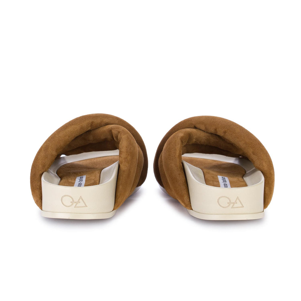 oa non fashion womens slippers brown