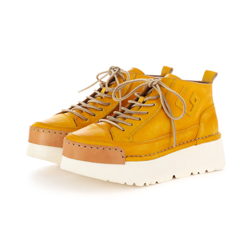 bng real shoes womens la girasole flatform leather yellow