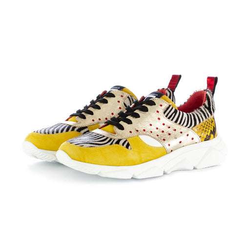 womens sneakers caterina c yellow zebra