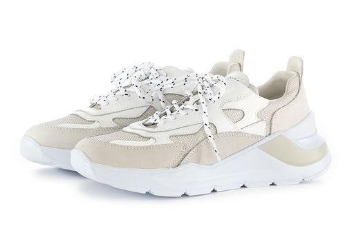 D.A.T.E. womens sneakers white grey