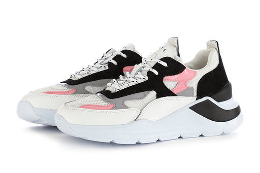 D.A.T.E. womens sneakers white black leather