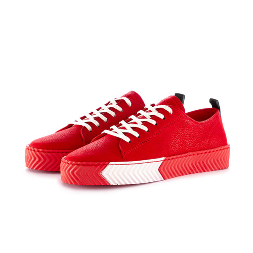 sisley womens sneakers leather red