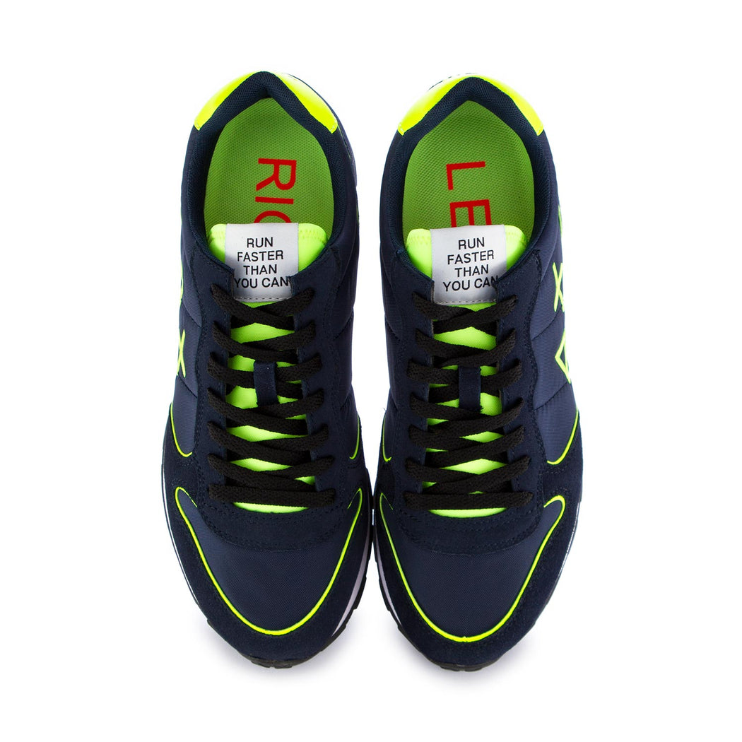 mens sneakers sun68 blue yellow fluo