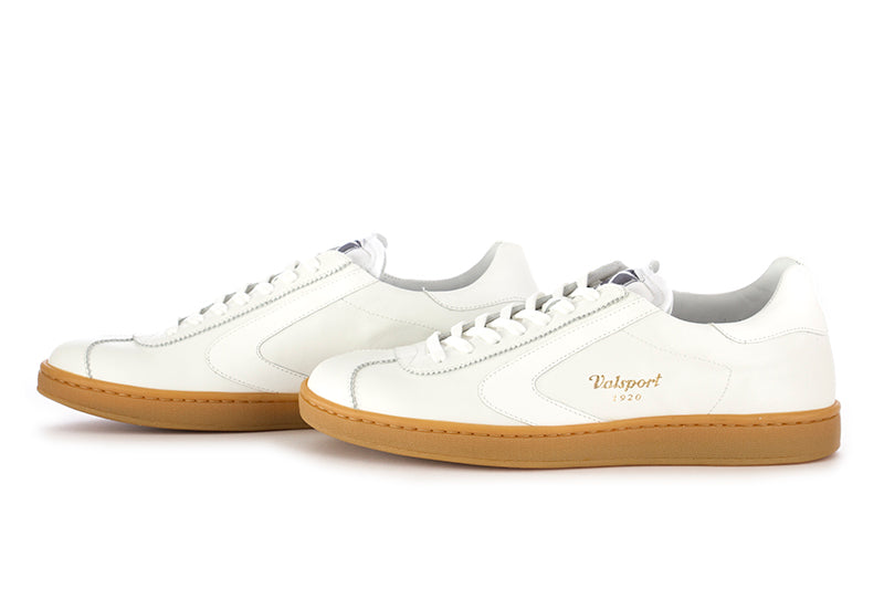 "VALSPORT 1920 mens white nappa leather ""Olimpia"" sneakers"