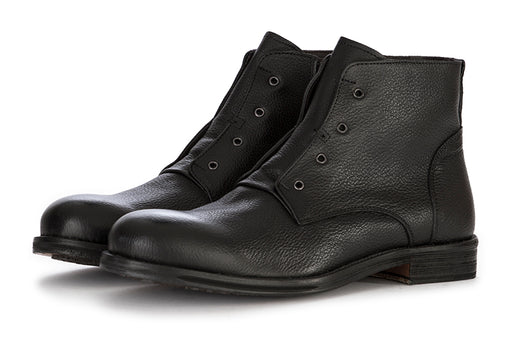 ARCURI mens black leather Ankle boots zipper