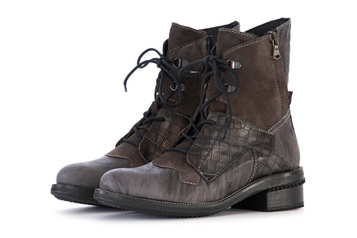 CLOCHARME womens grey hazelnut Lace-up ankle boots