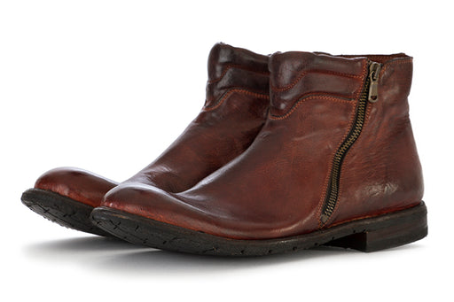 MANOVIA 52 mens brown leather Ankle boots