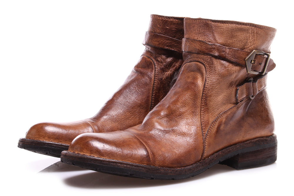 Manovia 52 women's ankle boots brown leather