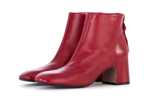 Mara Bini women's ankle boots red nappa leather