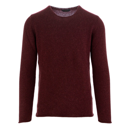 daniele fiesoli mens sweater bordeaux alpaca
