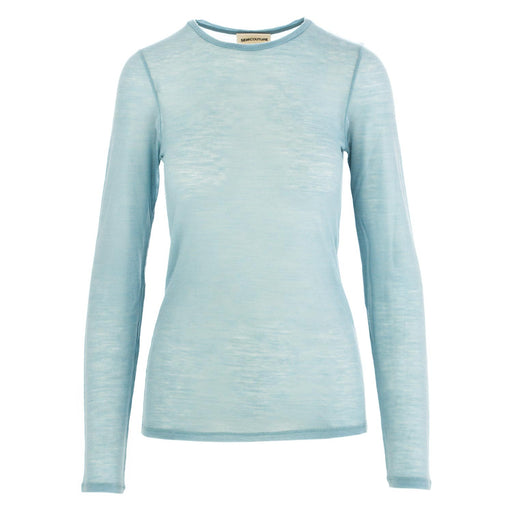 semicouture womens sweater t-shirt light blue