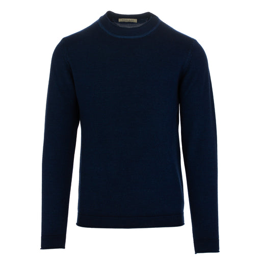 wool & co mens sweater wool dark blue