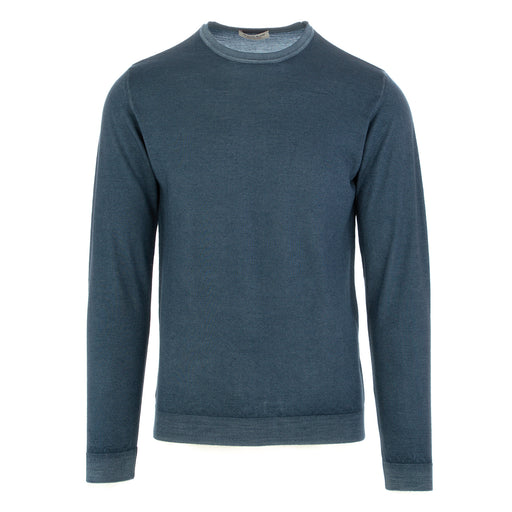 wool & co mens sweater merino wool blue