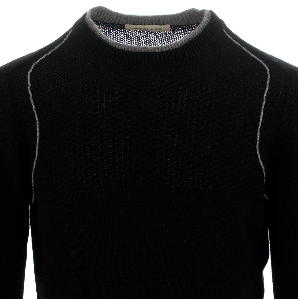 WOOL & CO | SWEATER WOOL BLACK