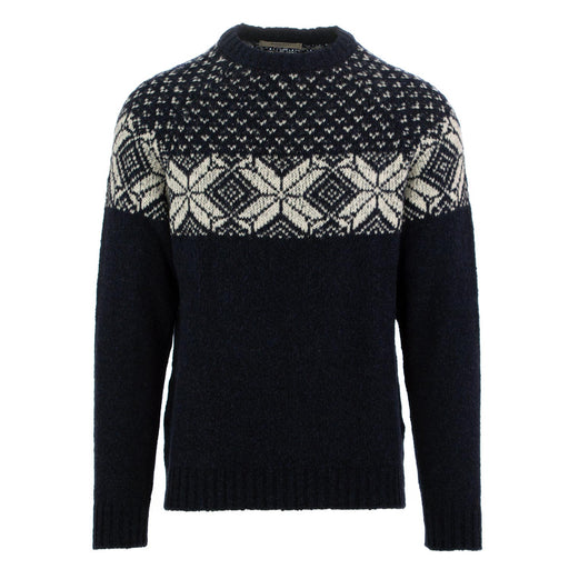 wool and co mens sweater blue white
