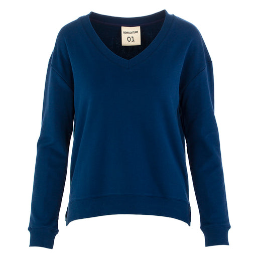 Semicouture womens sweatshirt dark blue cotton