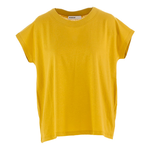 "BIONEUMA | ""TIMO"" T-SHIRT MUSTARD YELLOW COTTON"