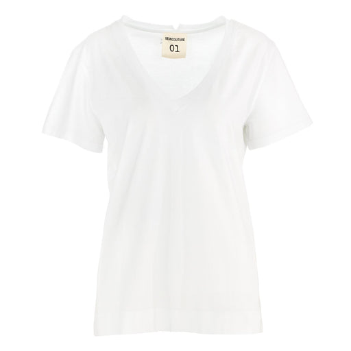 womens tshirt white semicouture