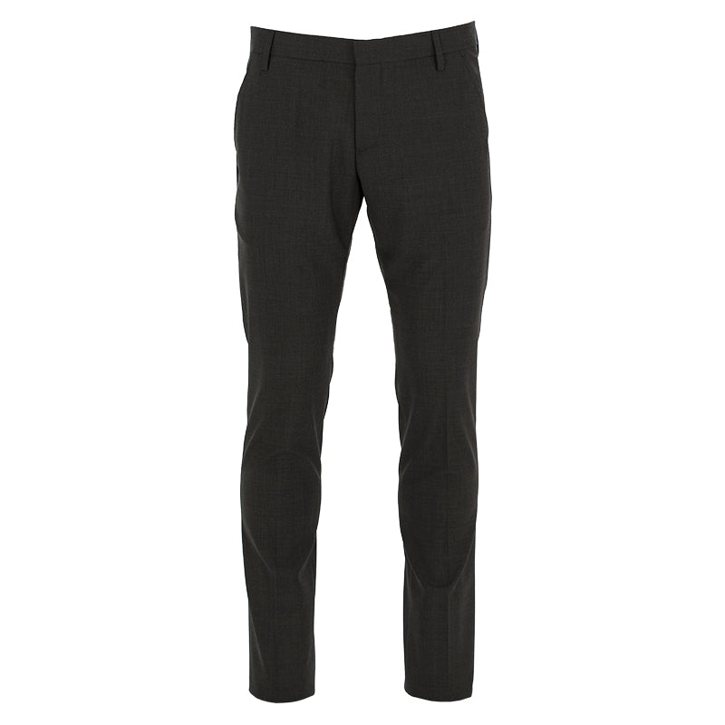 entre amis mens trousers wool grey