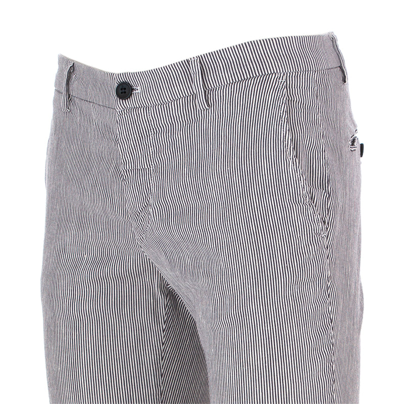 mason's mens trousers cotton white / blue