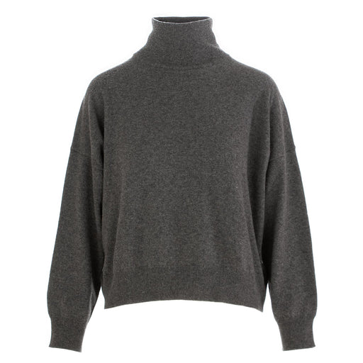 semicouture womens turtleneck grey wool