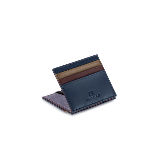 vip flap mens wallet vipmul blue bordeaux brown