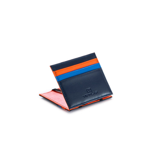 vip flap mens wallet vipmul blue orange light blue